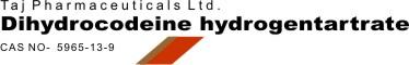 Dihydrocodeine hydrogen tartrate CAS Number:5965-13-9