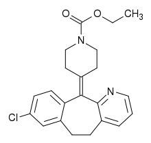 Loratadine Formula C22H23ClN2O2