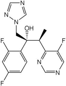 Voriconazole Formula C16H14F3N5O